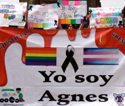 Protesta en el Ángel. Foto: Hugo Cruz