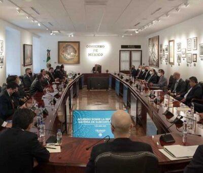 AMLO Reunión entre dirigentes empresariales, sindicales y Gobierno. (Twitter @lopezobrador_)