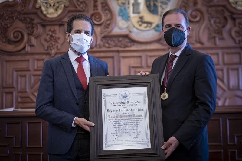BUAP otorga el doctorado Honoris Causa al jurista Eduardo Ferrer Mac-Gregor. (Especial)