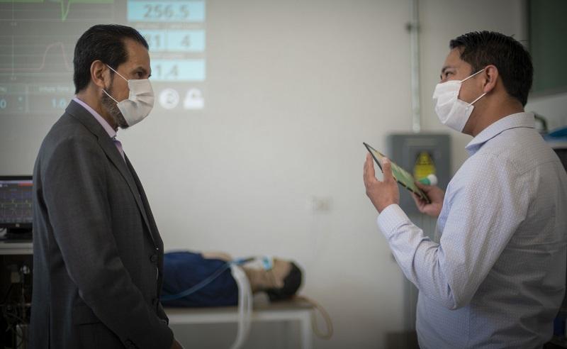 Científicos de la BUAP desarrollan un prototipo de ventilador mecánico invasivo, de manufactura económica, alta precisión y fácil manejo, respecto a los utilizados hoy en pacientes con Covid-19. (Especial)