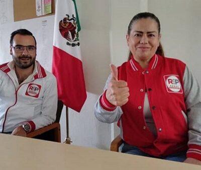 La ex priista América Soto es la candidata a la alcaldía por el partido de Elba Esther Gordillo. Foto: Cortesía