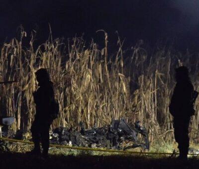 Uso mediático de la muerte de Moreno Valle y Alonso, el ardid de Barbosa en una Fiscalía puesta a modo. Zona del helicopterazo en Santa María Coronango. Foto: Eduardo Miranda