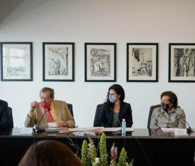 Al evento asistieron los legisladores Ifigenia Martínez y Porfirio Muñoz Ledo. Foto Cortesía STPS
