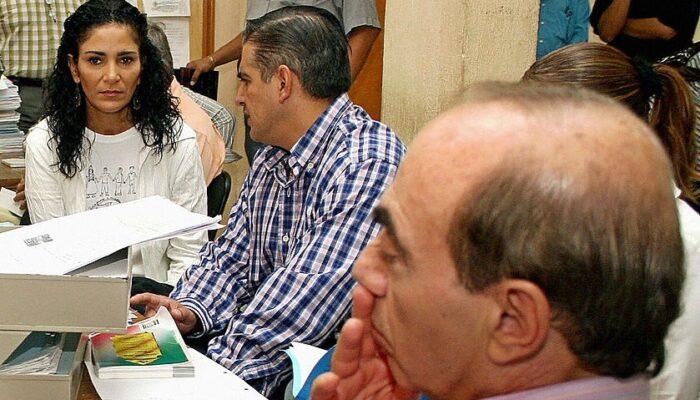 Kamel Nacif Borge en un careo con la escritora Lidya Cacho Ribeiro. (Archivo)