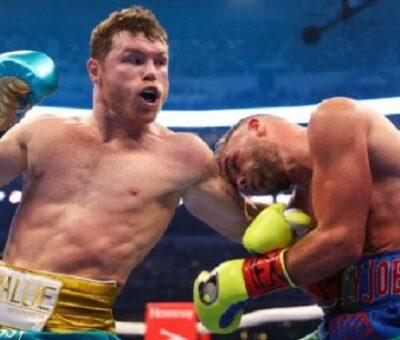 Canelo acaba con golpes a Billy Joe Saunders y levanta nuevo título. (Especial)