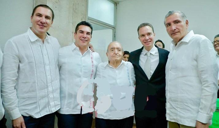 El ex gobernador de Chiapas, Manuel Velasco y sus aliados del PRIAN. (Especial)