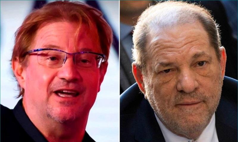 En la imagen Andrés Roemer, a la izquierda, y el ex productor de cine, Harvey Weinstein, a la derecha. Fotos: El Universal