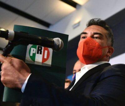 Exigen la renuncia de Alejandro Moreno tras las derrotas del PRI. Foto: Germán Canseco