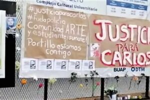Protesta estudiantil por el caso de Carlos Portillo. Foto: Especial