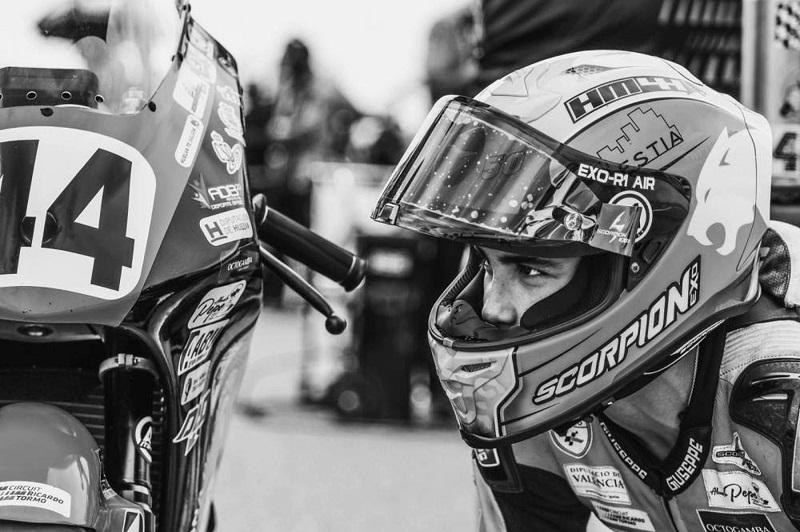El piloto onubense Hugo Millán, de 14 años, fallecido este domingo en un accidente en el circuito de Motorland, en Alcañiz (Teruel). MOTORLAND/EFE