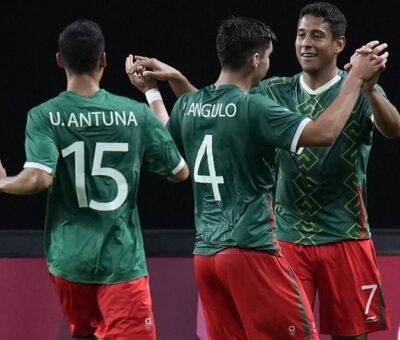 México goleó 3-0 a Sudáfrica y clasificó a los Cuartos de Final de los Juegos Olímpicos Tokio 2020. (Especial)