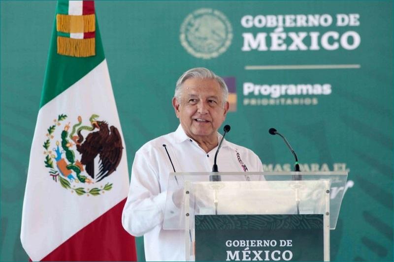 El presidente Andrés Manuel López Obrador durante la presentación de los Programas para el Bienestar en Ometepec, Guerrero. Foto cortesía Presidencia.