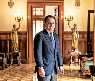 Arturo Herrera después de una entrevista en Palacio Nacional, el 1 de julio. GLADYS SERRANO