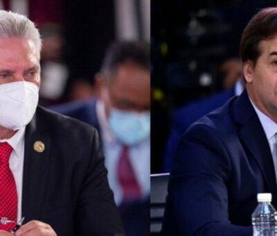 Miguel Díaz-Canel y Luis Lacalle Pou. REUTERS
