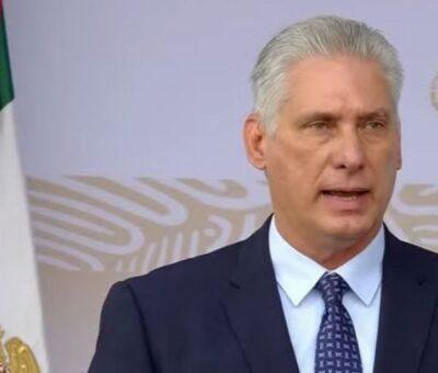 El presidente de Cuba, Miguel Díaz-Canel/Captura de imagen