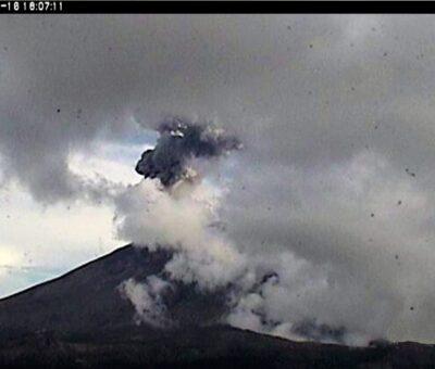 La Coordinación Nacional de Protección Civil (CNPC) señaló que el Semáforo de Alerta Volcánica se encuentra en nivel Amarillo Fase 2