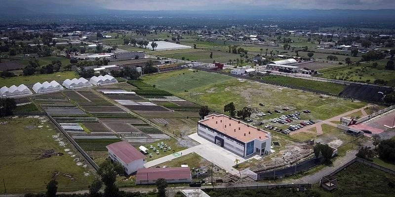 Vista aérea de la escuela de Ingeniería Agronómica y Zootecnia y Técnico Superior Universitario en Horticultura Sustentable, planes de estudios ofertados en la sede Los Reyes de Juárez, del Complejo Regional Centro. (Especial)