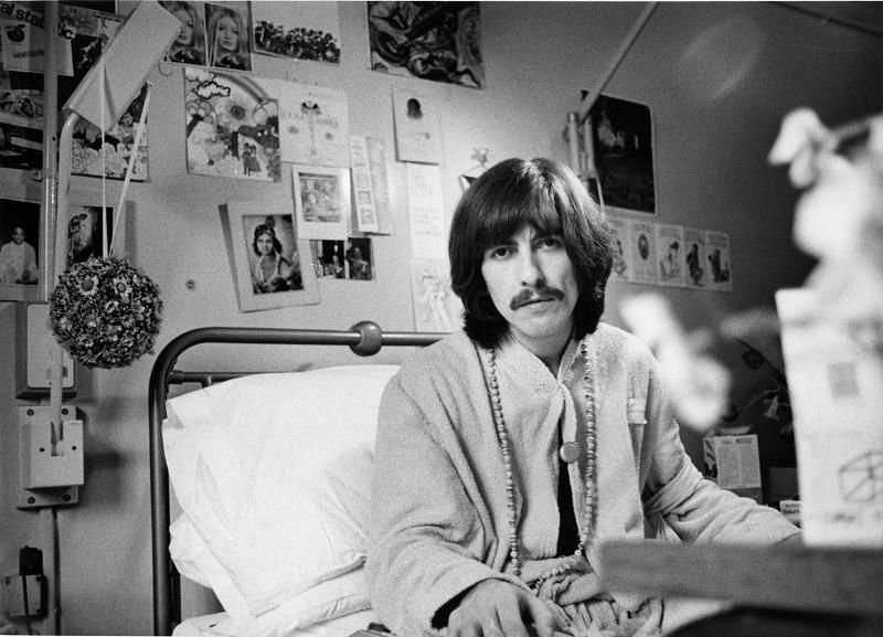 George Harrison en 1969, en una imagen, como todas en este reportaje, cedida por la editorial Libros del Kultrum.