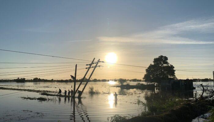 CFE restableció el suministro eléctrico al 99% de los usuarios afectados por el paso del huracán Pamela