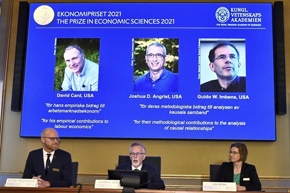 El Nobel de Economía fue para especialistas en estudios empíricos del mercado laboral. Crédito: AP