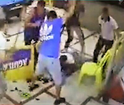Varios hombres se abalanzaron sobre Jefferson Navarro y lo atacaron. Falleció a causa de disparos y golpes. (Foto: Captura de video).