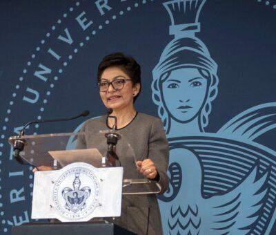 La rectora de la Universidad Autónoma de Puebla (UAP), Lilia Cedillo Ramírez, dio a conocer que el plan de regreso paulatino a las aulas. (Especial)